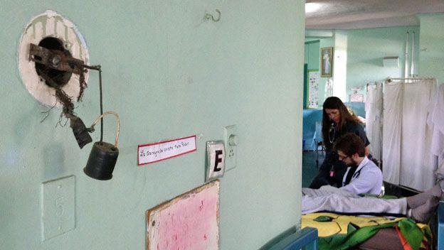 Lámapara de la sala de medicina interna
