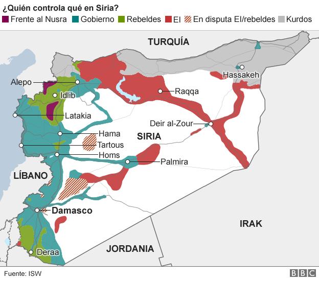 Estado Islamico Mapa Actual.La Nueva Estrategia De Ee Uu Contra Estado Islamico