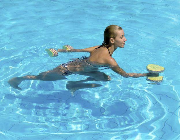 Ejercicios para la piscina para bajar de peso