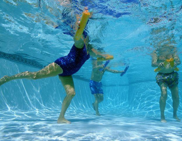 En la para ejercicios bajar peso piscina de
