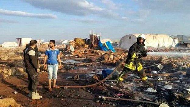 सीरिया में कैंप पर हमला