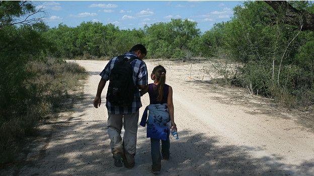 Migrantes centroamericanos a su paso por México