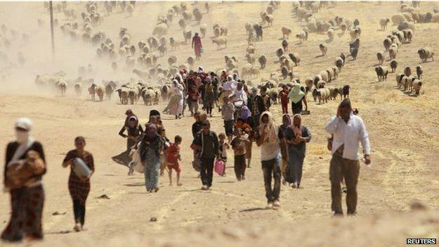 Desplazados minorías religiosas