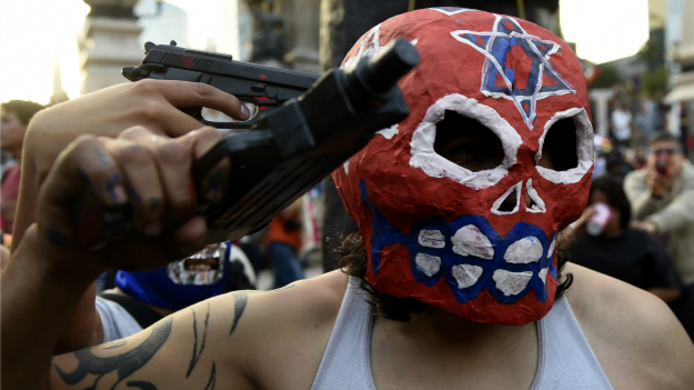 Protesta por la desaparición de estudiantes en Iguala, Guerrero. Foto: AFP/Getty