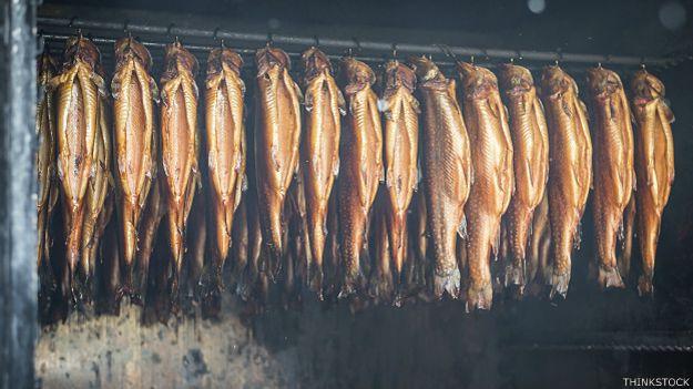 Ahumando salmón