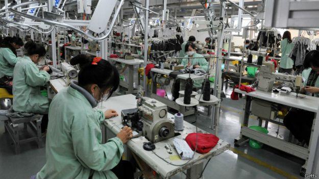 Una fábrica en China
