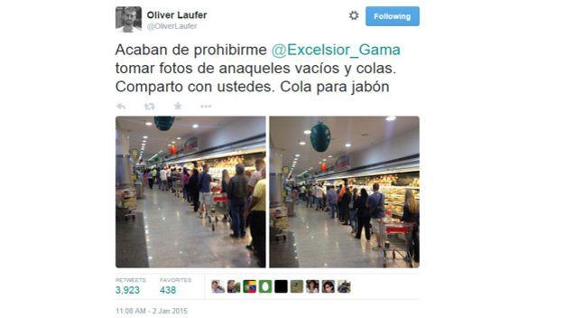 Tuiteros publican fotos de anaqueles vacíos