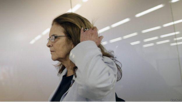 Expresidenta de Petrobras, Graça Foster.