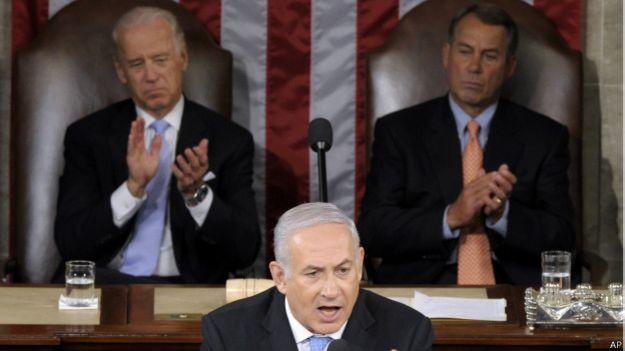 Netanyahu en el Congreeso de EE.UU. en 2011