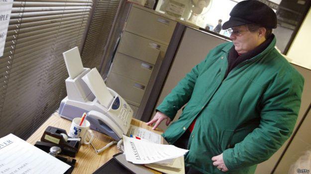 Fax transmitiendo