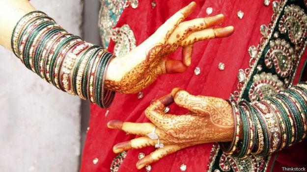 Manos de bailarina de Bollywood