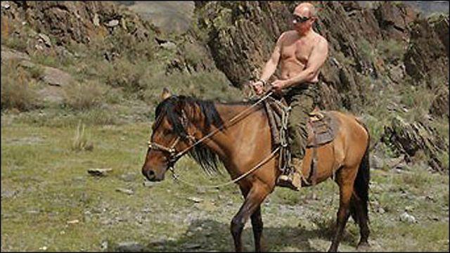 Vladimir Putin durante sus vacaciones