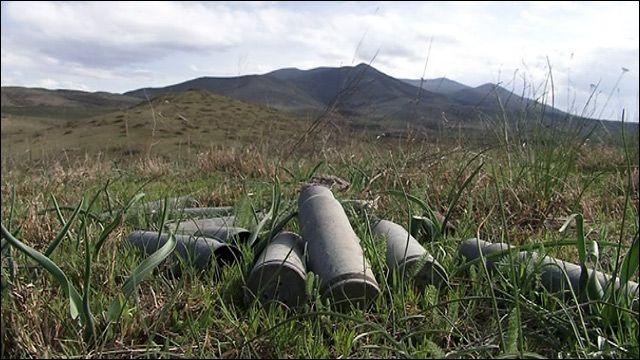Гильзы от снарядов близ Аскерана, Карабах