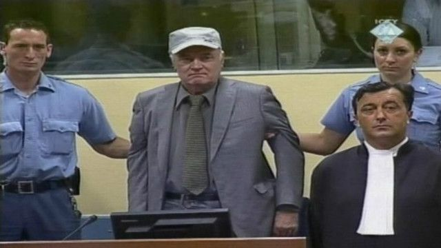 Ратко Младич в суде