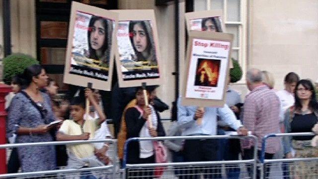 توہین مذہب کے ملزم کے حق میں مظاہرہ