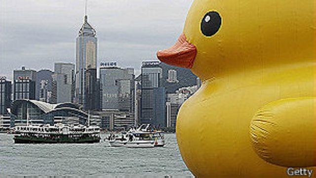 台灣來鴻:基隆的黃色小鴨不快樂