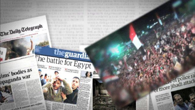 التغطية الإعلامية البريطانية لأحداث مصر