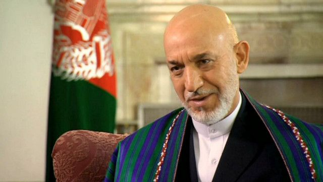 حامد كرزاي الرئيس الأفغاني