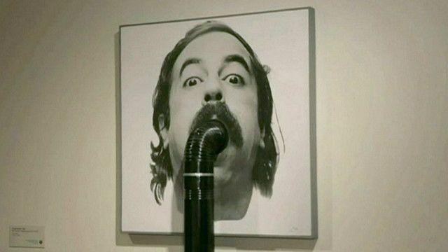 Uma das obras da exposição 'Iran Modern' (BBC)
