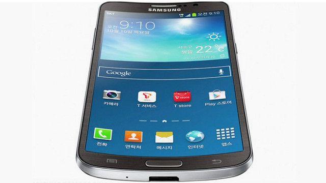 O Smartphone curvo da Samsung (BBC)