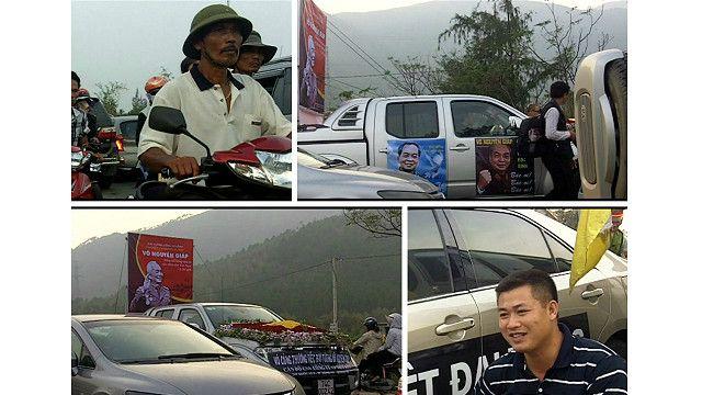 Kẹt xe trên đường vào lễ tang tướng Giáp ở Quảng Bình
