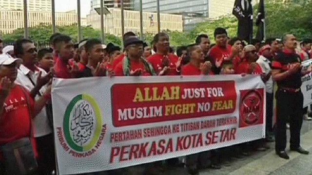 مسلمون يتظاهرون في ماليزيا