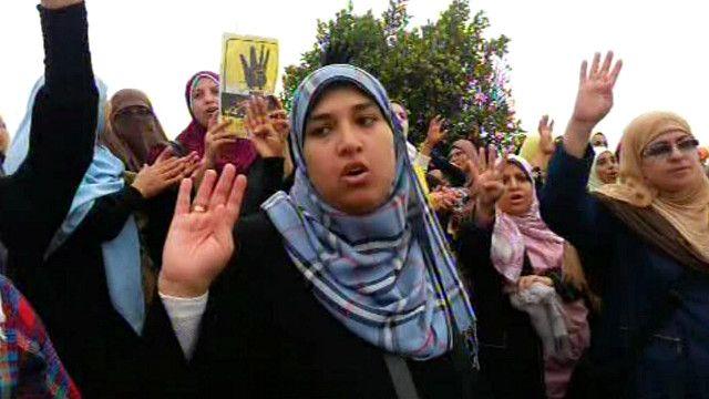 مظاهرة مؤيدة للاخوان  في مصر