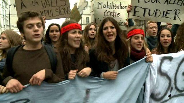 مظاهرة طلابية في فرنسا