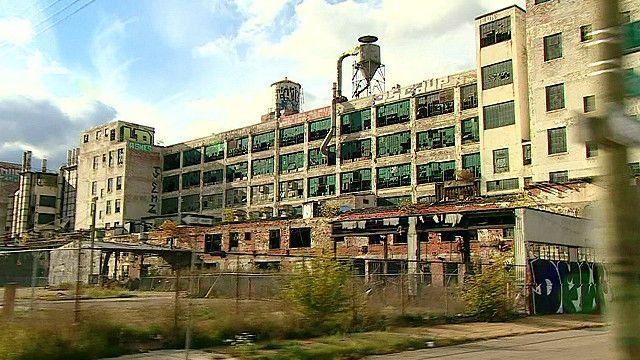 Заброшенное здание в Детройте