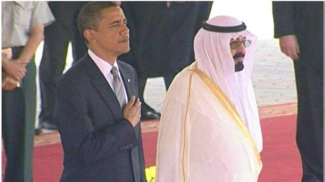 الملك عبدلله بن عبد العزيز وباراك أوباما