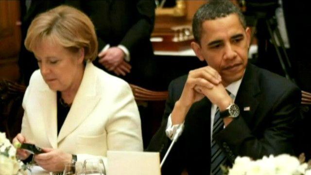 أنغيلا ميركل و باراك اوباما