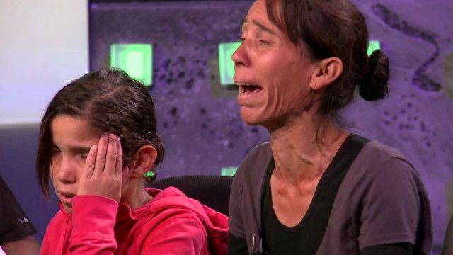 Sasha Ruseva com os filhos na TV búlgara. Foto: BBC
