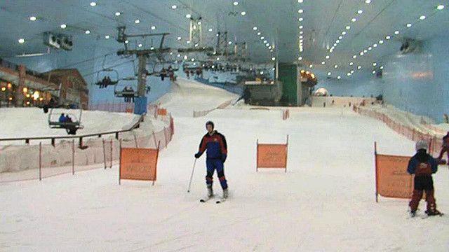 التزحلق على الجليد في دبي