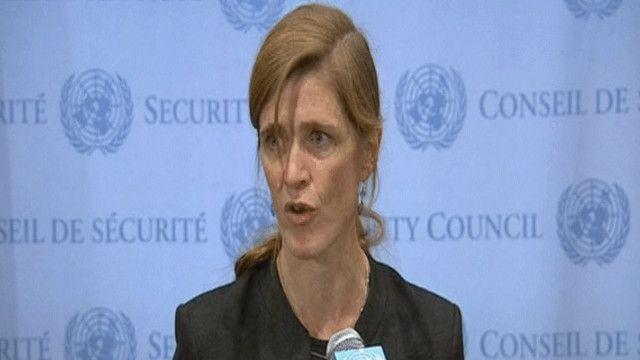 سامنتا باور المندوبة الأمريكية في مجلس الأمن