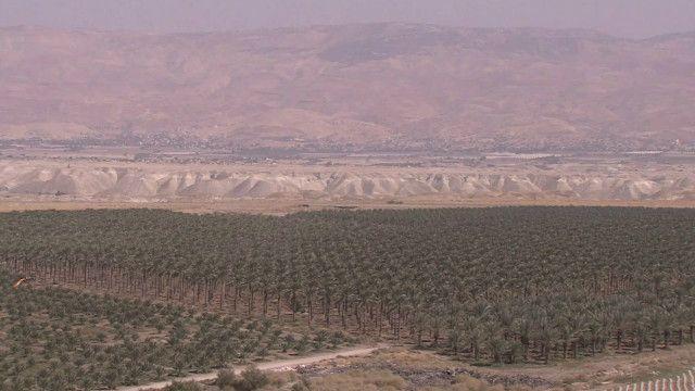 Vale do Rio Jordão, na Cisjordânia. Foto: reprodução de vídeo/BBC