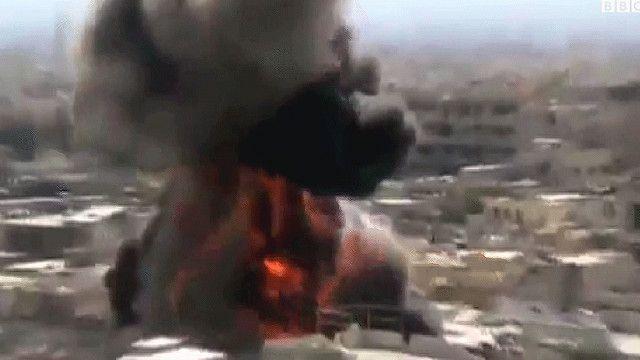 انفجار في مخيم اليرموك في سوريا