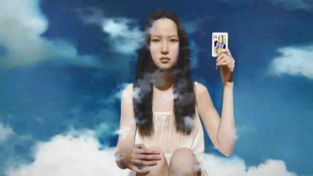 لوحة فنية في معرض صيني