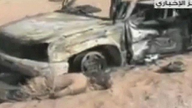 جثة سوري معارض ملقاه على الارض