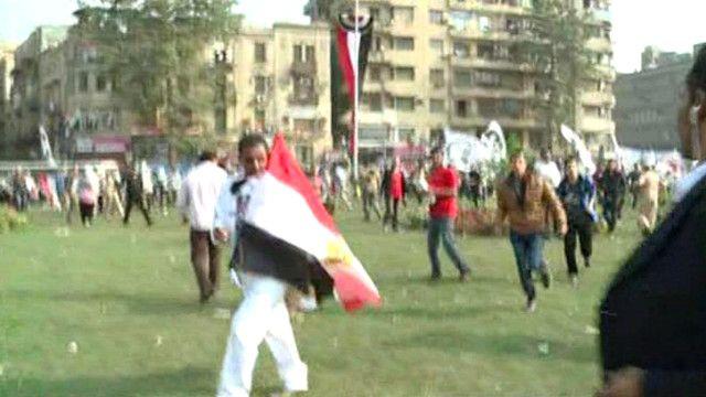 مظاهرات في ميدان التحرير في ذكرى محمد محمود