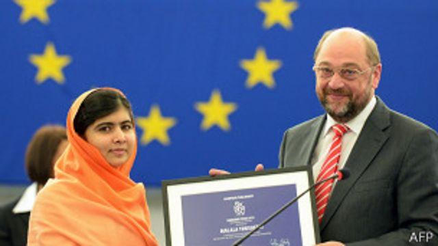 Malala Yousafzai recibe premio anual de derechos humanos de la Unión Europea