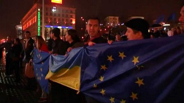 Майдан протест протев остановки евроинтеграции
