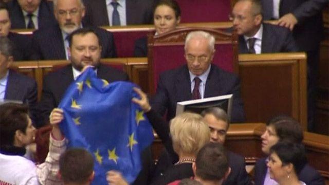 Николай Азаров в парламенте Украины