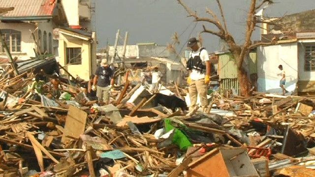 مدينة تاكلوبان بعد انتهاء العاصفة