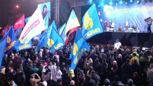 احتجاجات في العاصمة الأوكرانية كييف