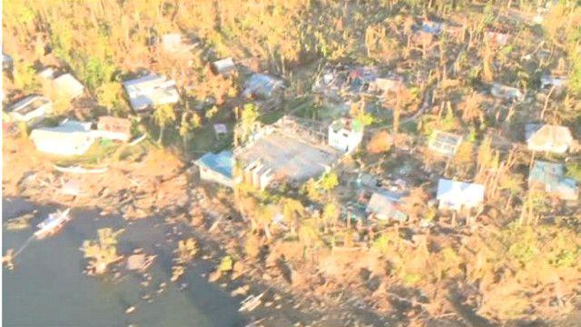 صور لمناطق واسعة من الدمار نتيجة إعصار هايان في الفلبين