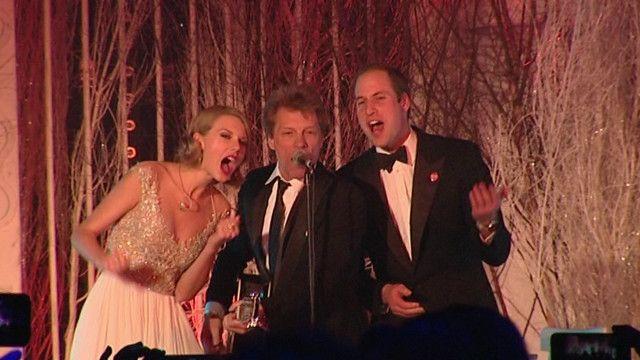 Taylor Swift, Jon Bon Jovi y el príncipe William