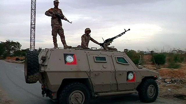مدرعة تابعة للجيش الليبي