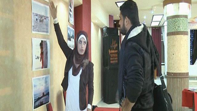 معرض لأعمال الفنانين في غزة