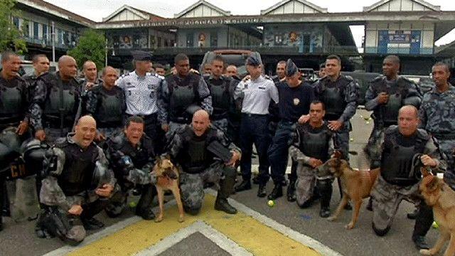 تدريبات الشرطة البرازيلية