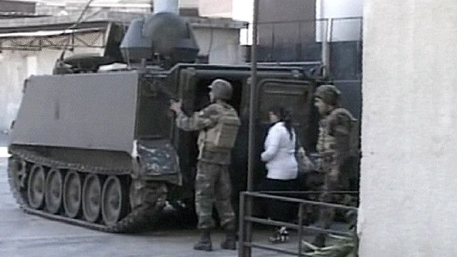 مدرعة عسكرية لبنانية
